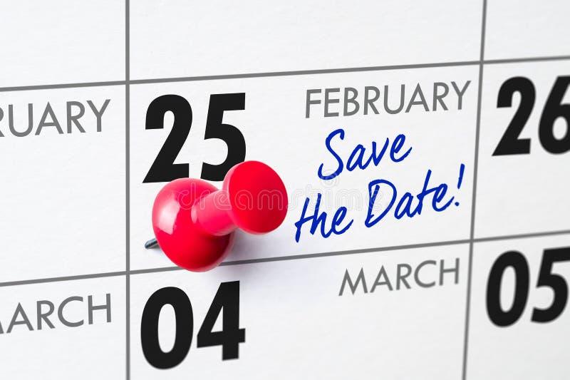 25 febbraio immagine stock libera da diritti