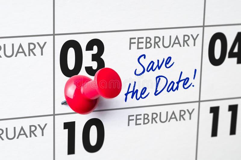 3 febbraio fotografia stock