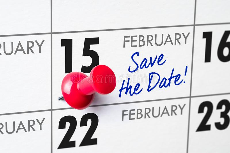 15 febbraio immagine stock libera da diritti