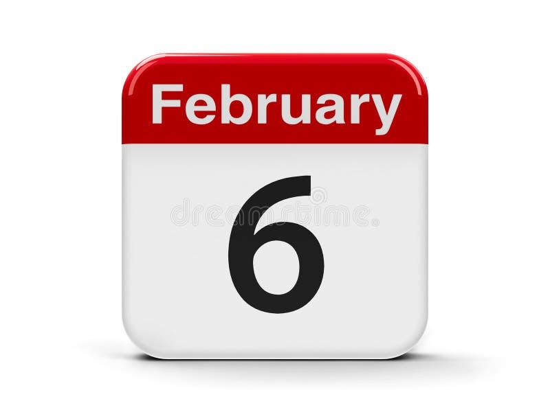 6 febbraio illustrazione di stock