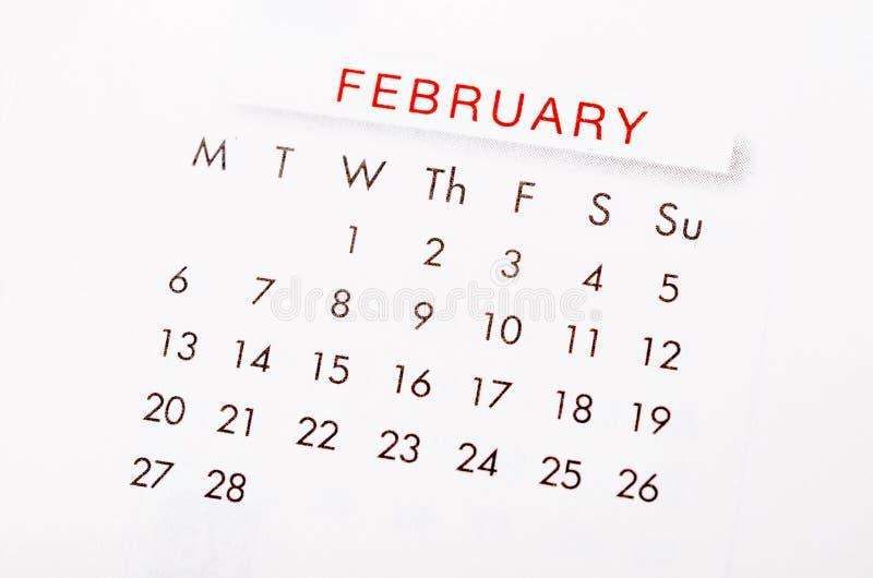 Febbraio 2017 calendario fotografia stock libera da diritti