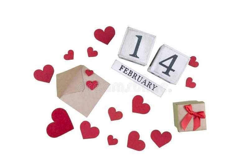 14 febbraio calendario; mondo del concetto di San Valentino immagine stock libera da diritti