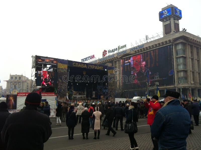 Febbraio 2014 Kiev Ucraina fotografia stock