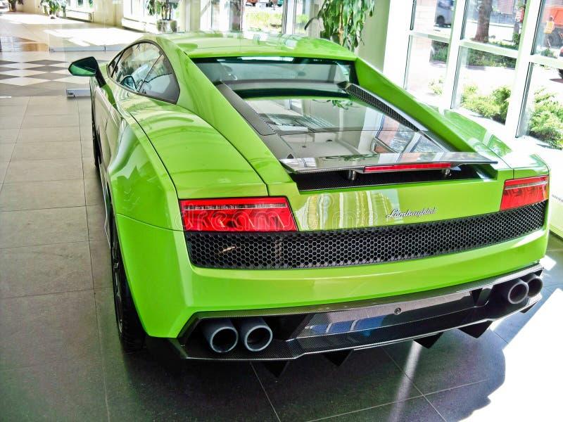 17 febbraio 2011 l'Ucraina, Kiev Lamborghini Gallardo LP 570-4 Superleggera fotografie stock