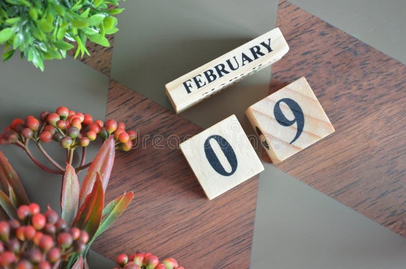 9 febbraio per fondo fotografie stock libere da diritti