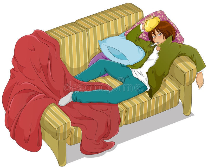 Febre ilustração royalty free