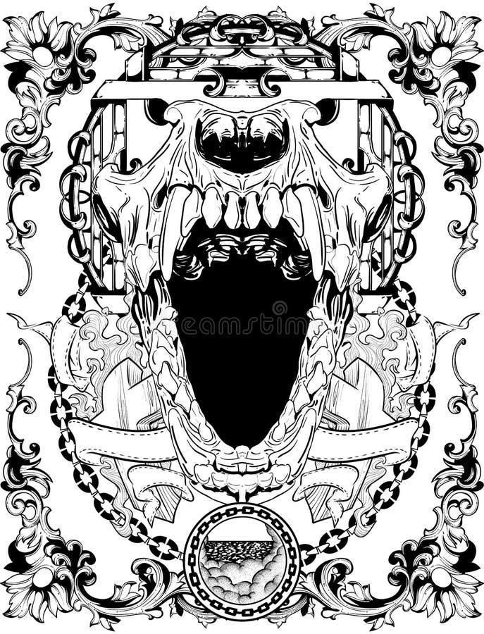 Febre da noite ilustração do vetor