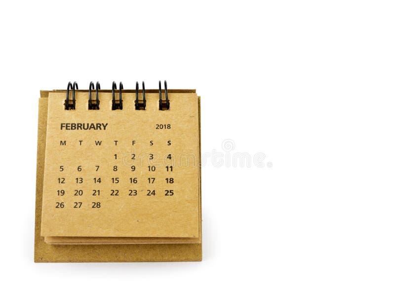 febrero Hoja del calendario en blanco foto de archivo libre de regalías