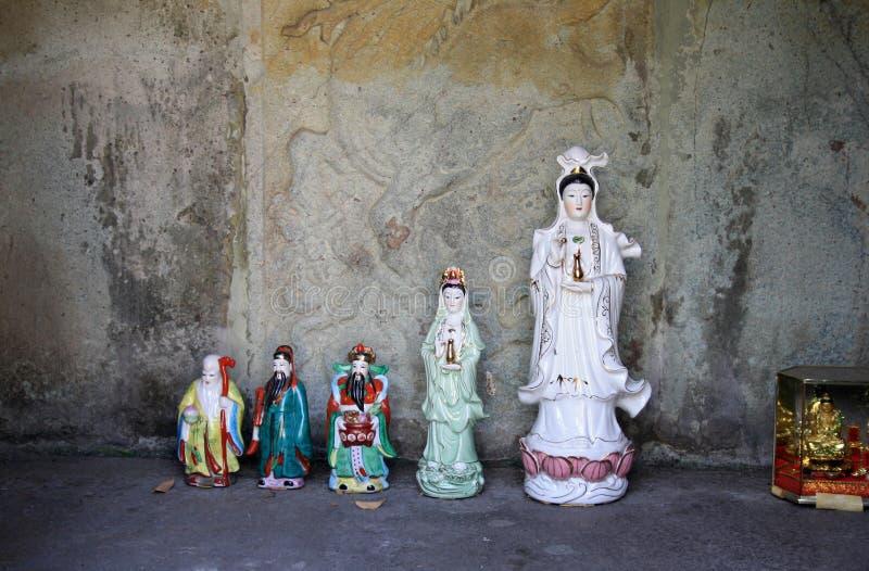 7. Februar 2019 Bangkok, Thailand, Wat Pho-Tempelkomplex Buddhistische Statuen und Skulpturen stockbild