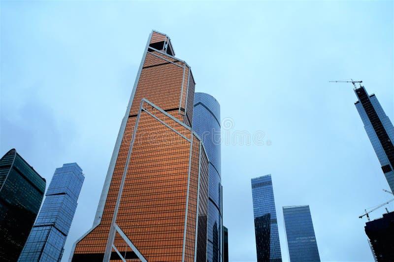 Februar 2019 Russland moskau Moskau-Stadtwolkenkratzer lizenzfreie stockfotos