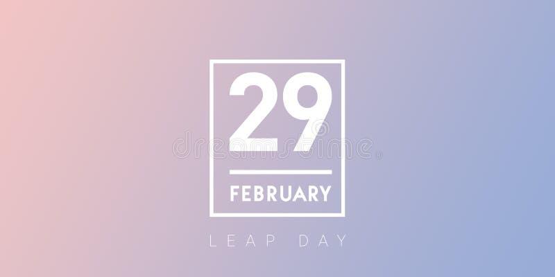 29. Februar Typografie auf dem RuheSchalttaghintergrund stockbild