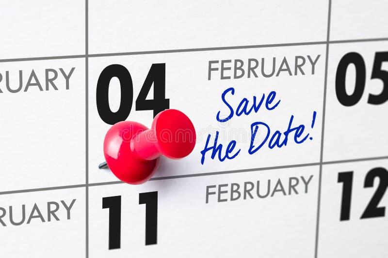 04 februari stock afbeeldingen
