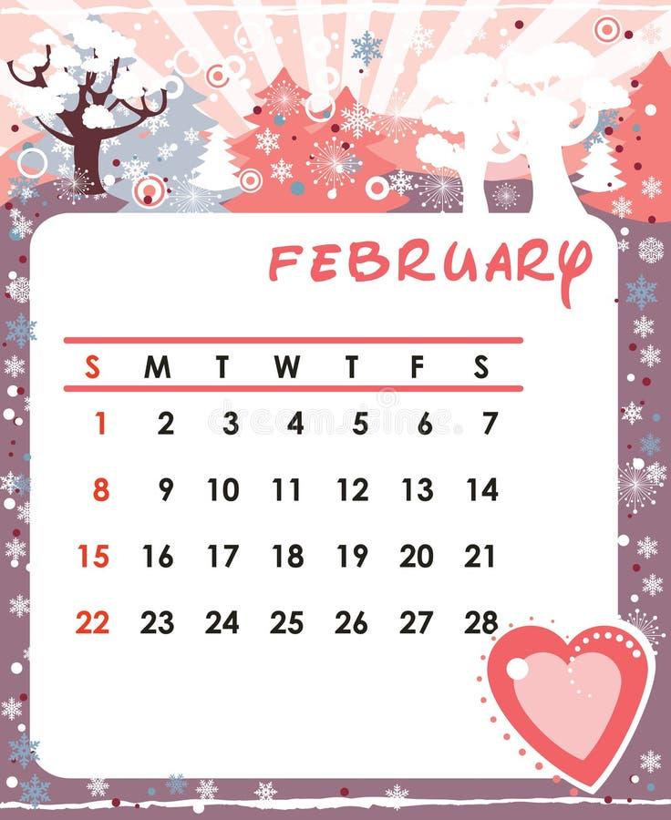 Februari vector illustratie
