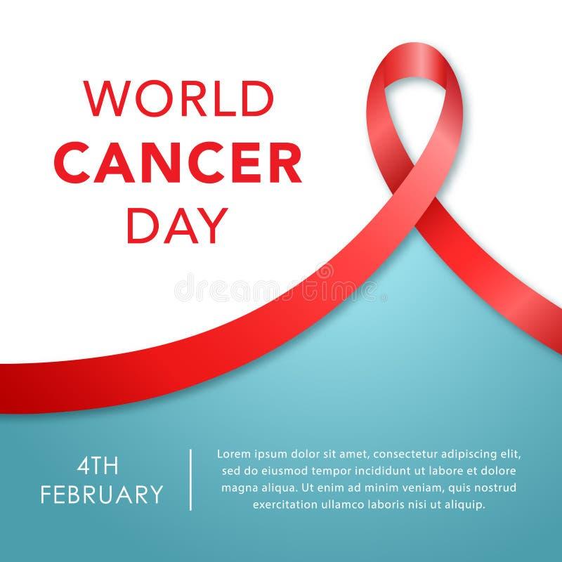 4 februari, de Dagbanner van Wereldkanker stock illustratie