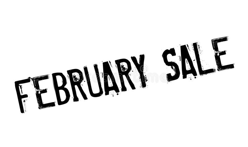 Februari Sale rubber stämpel royaltyfri illustrationer