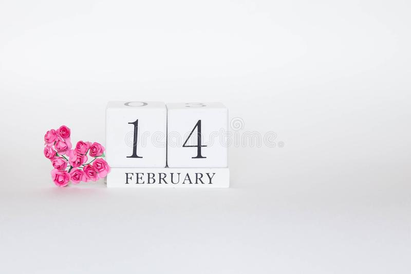 14 februari valentijnsdag royalty-vrije stock afbeelding