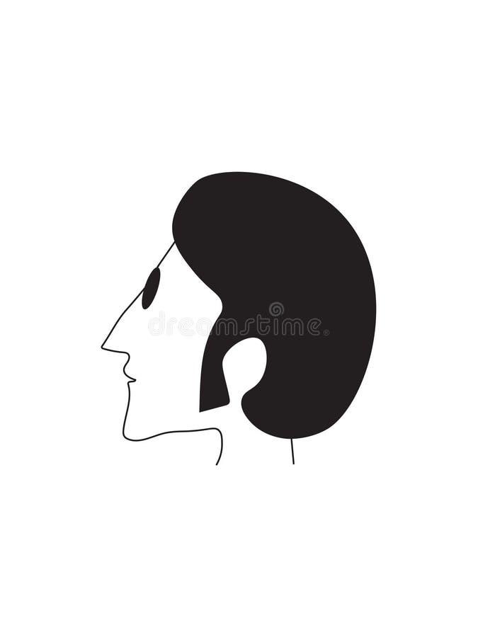 Februari 28, 2019 Vektorn lagerför symbolsillustrationen av John Lennon stock illustrationer