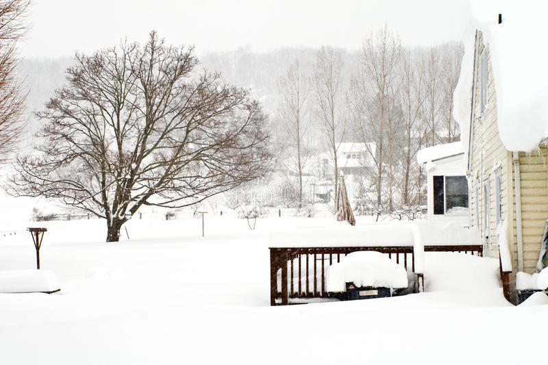 Download February 2010 Storm stock image. Image of covered, backyards - 12932347