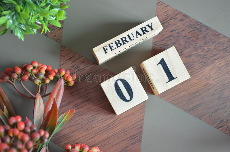 01 February for background. stock photography