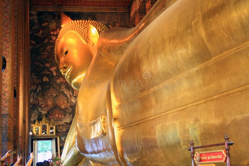 07 February 2019, Bangkok, Thailand, Wat Pho temple complex. Temple of the reclining Buddha royalty free stock photos