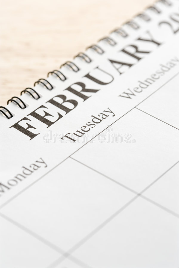 Download February on calendar. stock photo. Image of february, nobody - 2425614