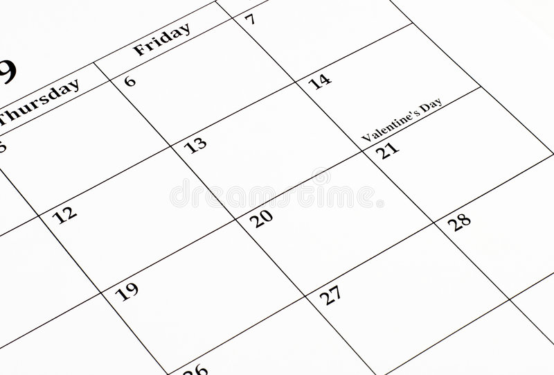 Download February Calendar stock photo. Image of appointment, monthly - 6260118