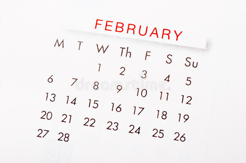 Download February 2017 calendar. stock image. Image of 2017, design - 82964935