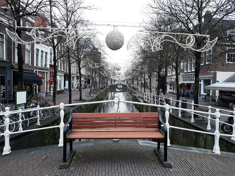 5 February 2019, Delft, Netherlands, South Holland, Europe. Beautiful city landscape. stock images