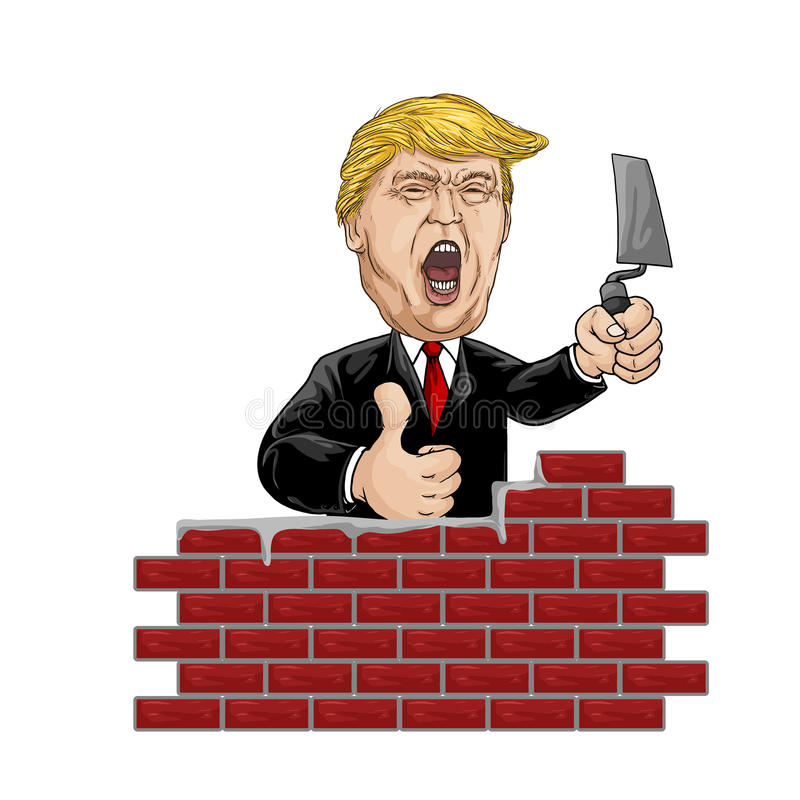 February 20, 2017. Illustration Donald Trump royalty free stock images