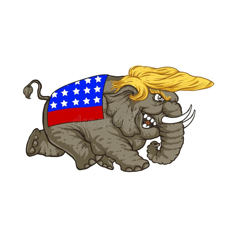 February 20, 2017. Illustration Donald Trump royalty free stock photo