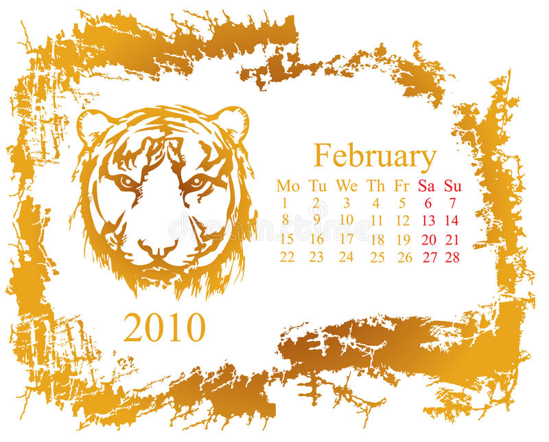 Download February month stock vector. Image of date, agenda, seasons - 11058444