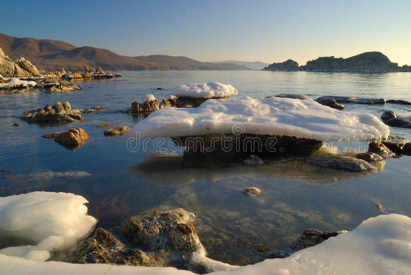 Download February morning-3 stock photo. Image of ocean, icicle - 7433992