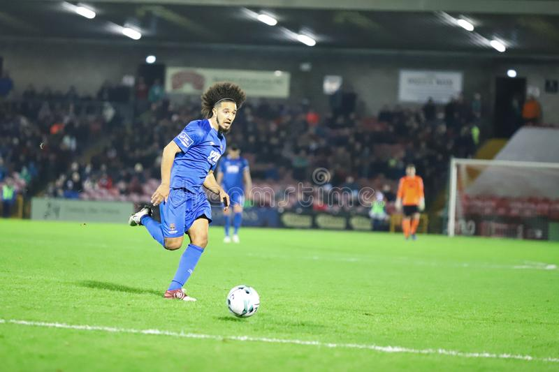 Bastien Hery during the Cork City FC vs Waterford FC match at Turners Cross for the League of Ireland Premier Division. February 22nd, 2019, Cork, Ireland stock images