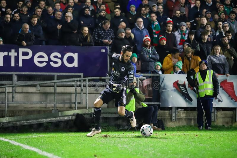 Mark McNulty during the Cork City FC vs Waterford FC match at Turners Cross for the League of Ireland Premier Division stock photos