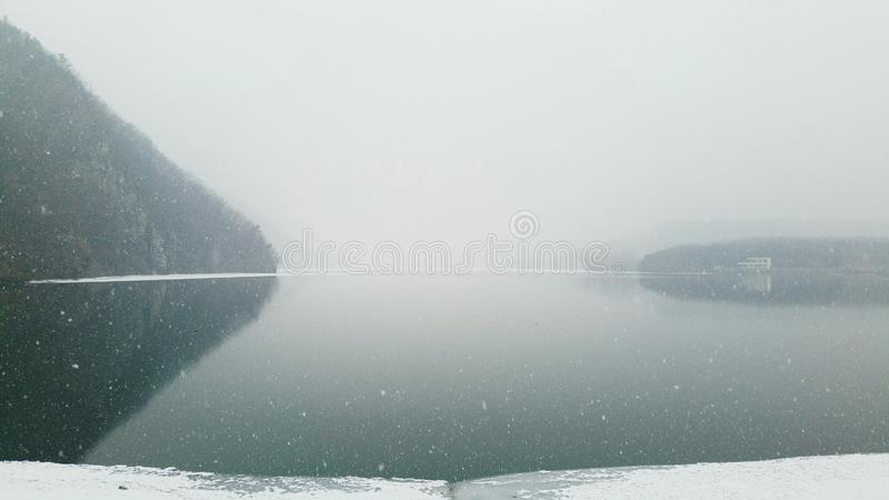 February 15, 2019 snowy day 16:38PM stock photography