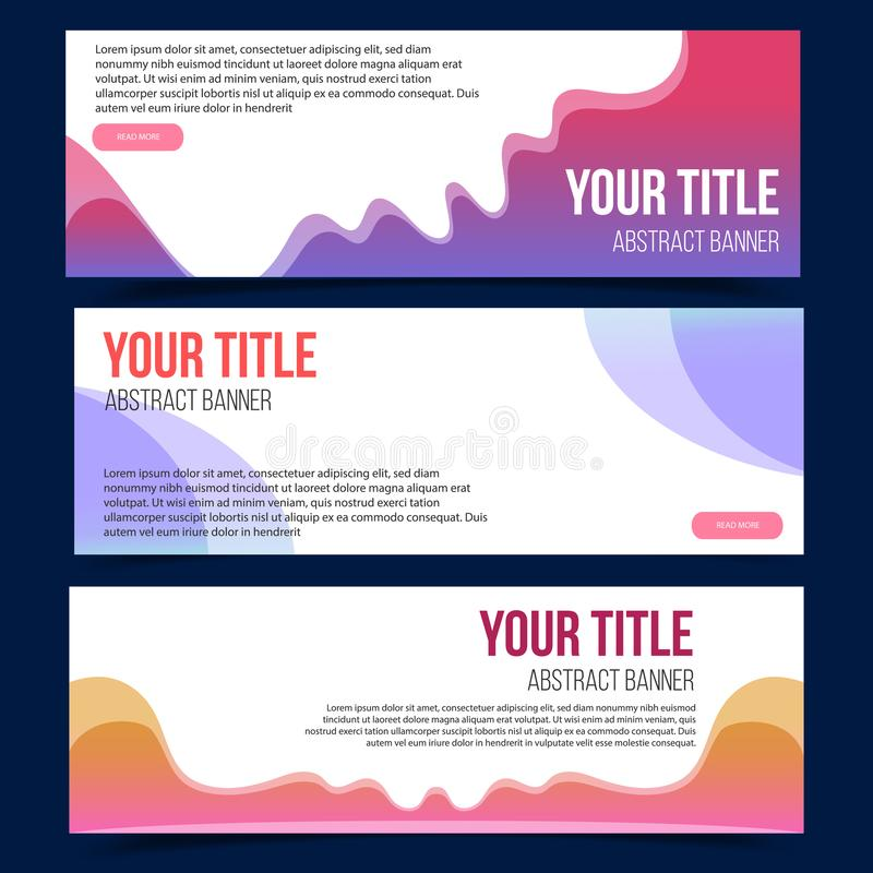 Color abstract fluid  invitation set. vector illustration