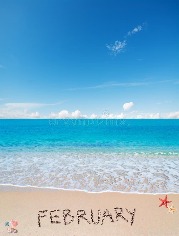 Download February On A Tropical Beach Stock Image - Image of design, coast: 54107519