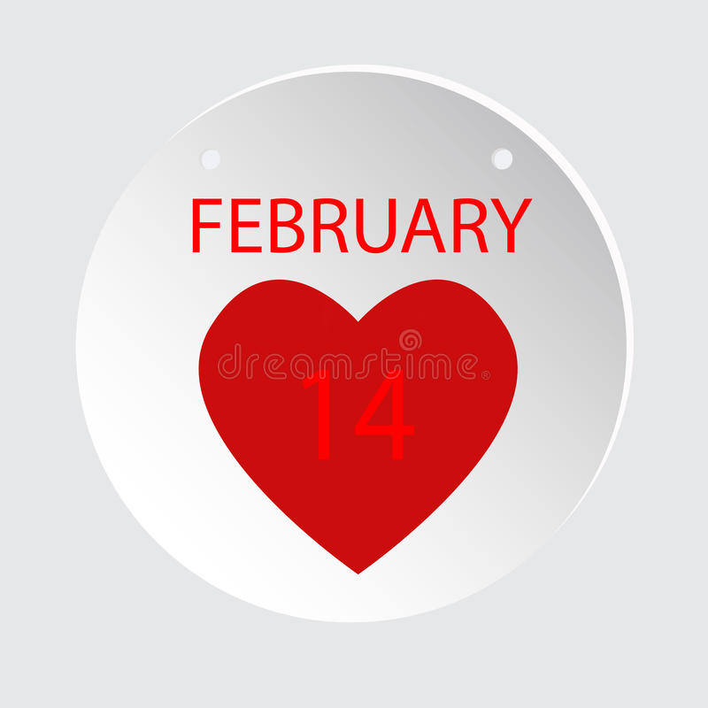 February 14.Valentines day Love.Vector illustration flat style stock photography