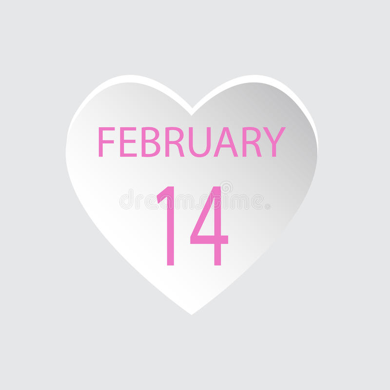 February 14.Valentines day Love.Vector illustration flat style royalty free stock images