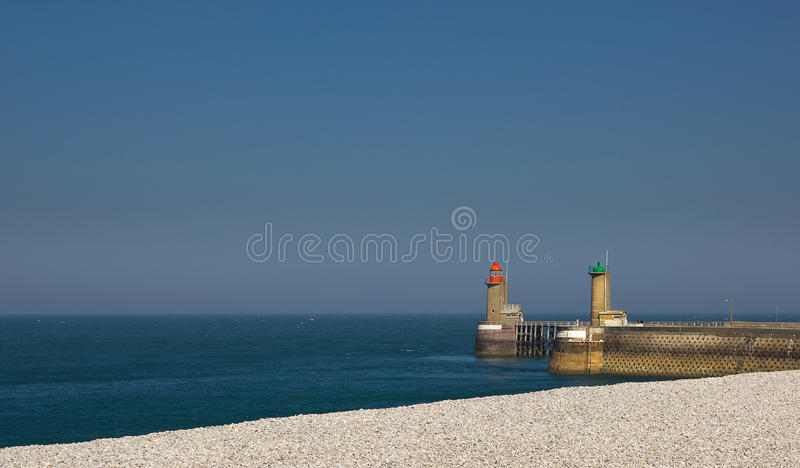 Download Fecamp harbor entrance stock image. Image of place, entry - 26347685