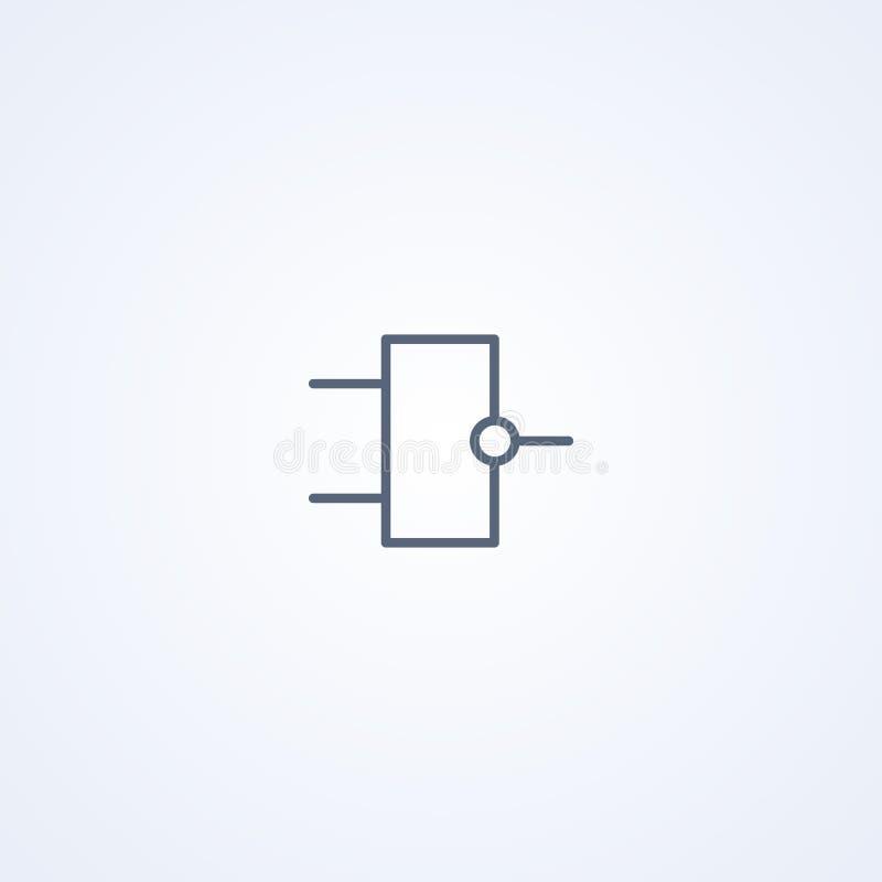 Fecha de la lógica, la mejor línea gris símbolo del vector stock de ilustración
