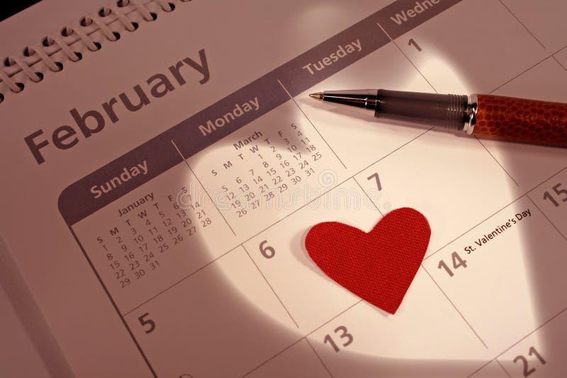 Fecha de las tarjetas del día de San Valentín imagenes de archivo