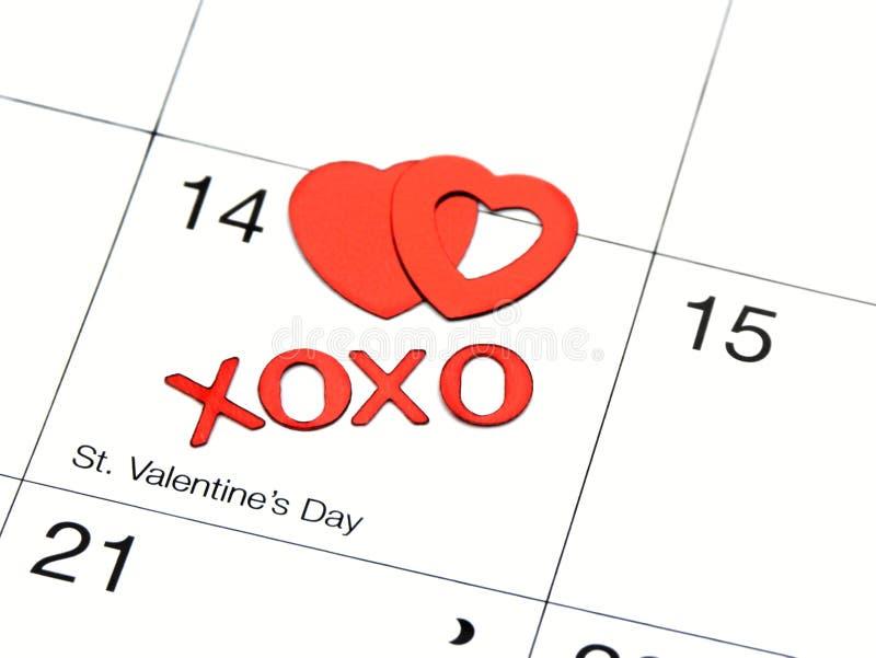 Fecha de las tarjetas del día de San Valentín fotografía de archivo