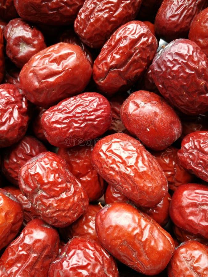 Fecha roja - fruta de la azufaifa imágenes de archivo libres de regalías