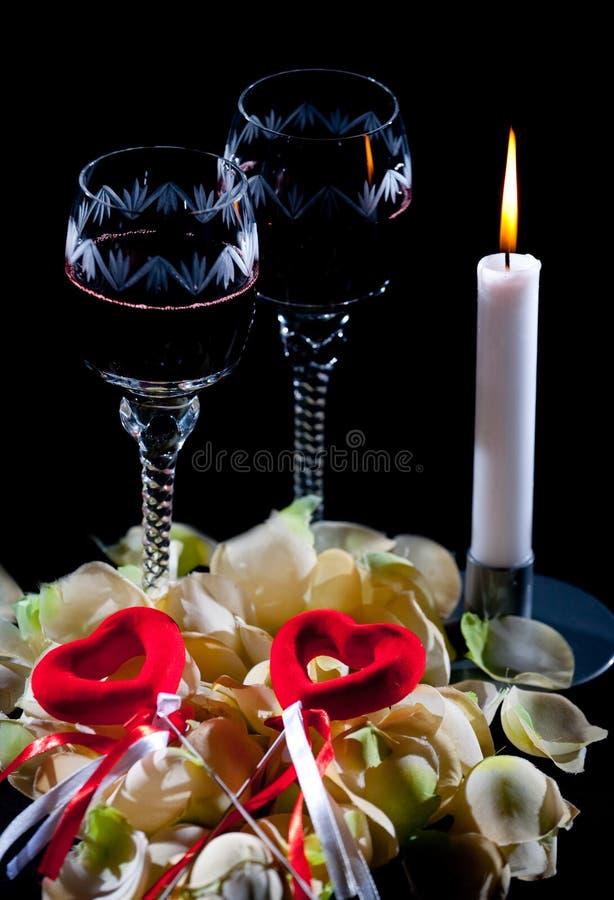 Fecha romántica fotos de archivo