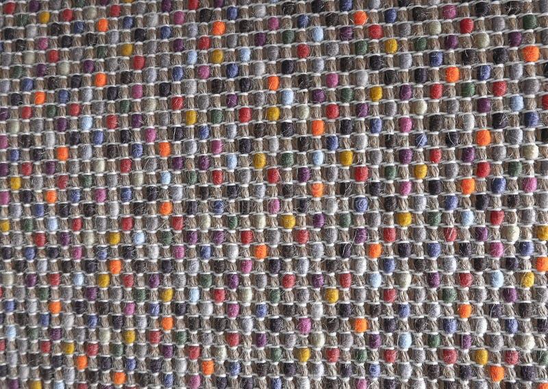 Fechado acima da textura quadrada do teste padrão de Weave de cesta colorido fotos de stock