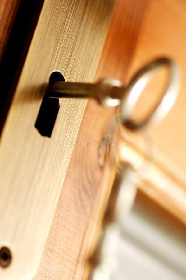 FECHADO - segurança chave imagem de stock