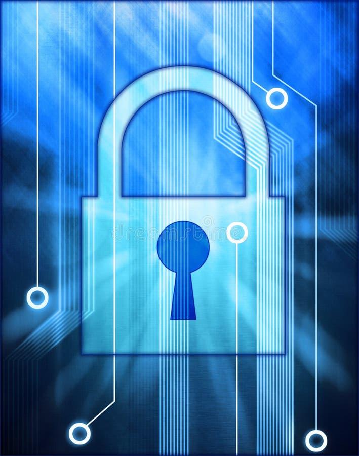 Fechamento da segurança da informática  ilustração stock