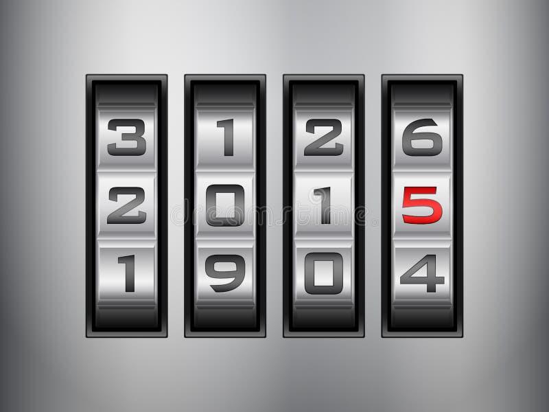 Fechamento de combinação 2015 ilustração stock