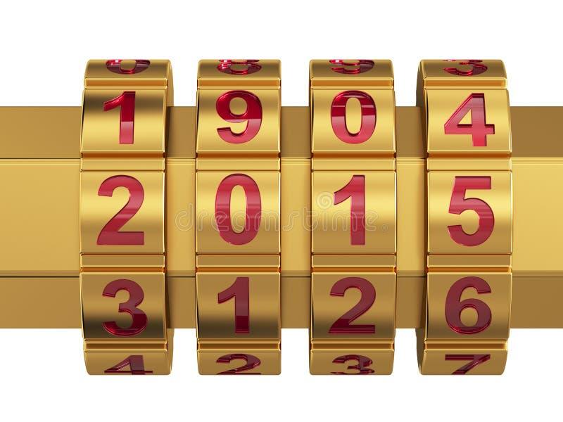 Fechamento de combinação de 2015 anos ilustração stock